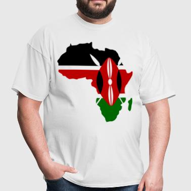 Kenya Flag Aafrica Map - Men's T-Shirt