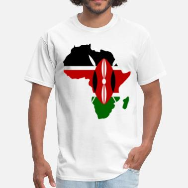 Kenya Kenya Flag Aafrica Map - Men's T-Shirt