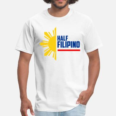 Pinoy Apparel Half Filipino - Filipino Shirts - Men's T-Shirt