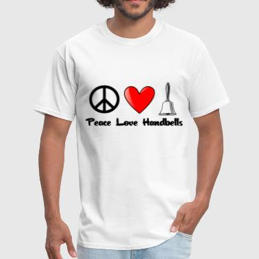 Peace, Love, Handbells - Men's T-Shirt