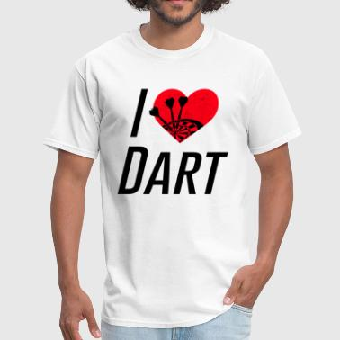 I Heart Darts I love Dart / Ich liebe Dart - Men's T-Shirt