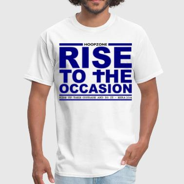 Basketball Hoops Sports Ball Hoopzone Basketball Motivational Inspirational RiseBlue4white.png - Men's T-Shirt