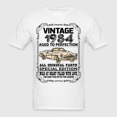 VINTAGE 1984-AGED TO PERFECTION - Men's T-Shirt