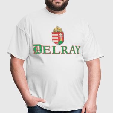 Delray Detroit Hungarian Hungary Flag - Men's T-Shirt
