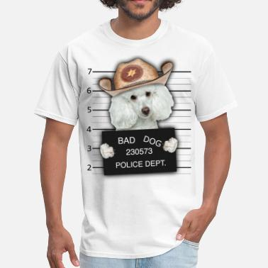 Habit Dog Criminal Poodle Funny T shirt - Men's T-Shirt