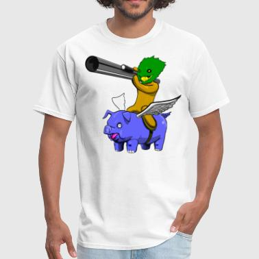 Machinima Machinima Pigs Fly and Pineapples are Armed with Rockets - Men's T-Shirt