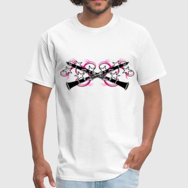 Clarinet with Pink Swirls - Men's T-Shirt