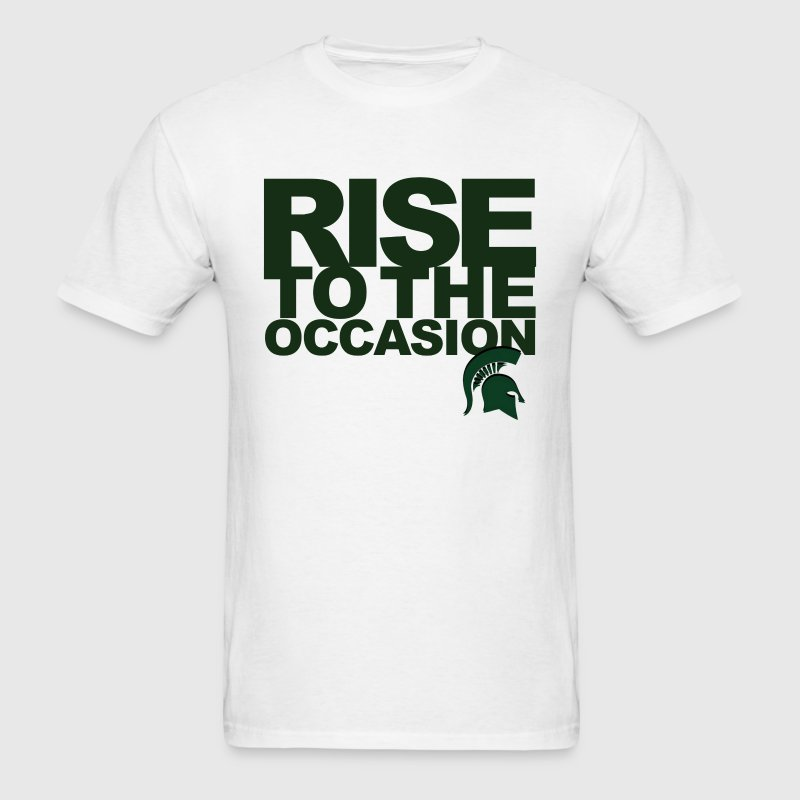 Michigan State Spartans Rise to the Occasion - Men's T-Shirt