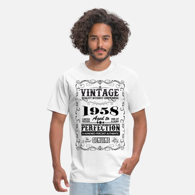 1958 T-Shirts - Premium Vintage 1958 Aged To Perfection - Men's T-Shirt white
