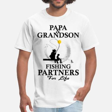 Papa And Grandson Papa And Grandson Fishing Partners For Life - Men's T-Shirt