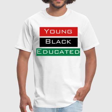 Young Black and Educated Woman's - Men's T-Shirt