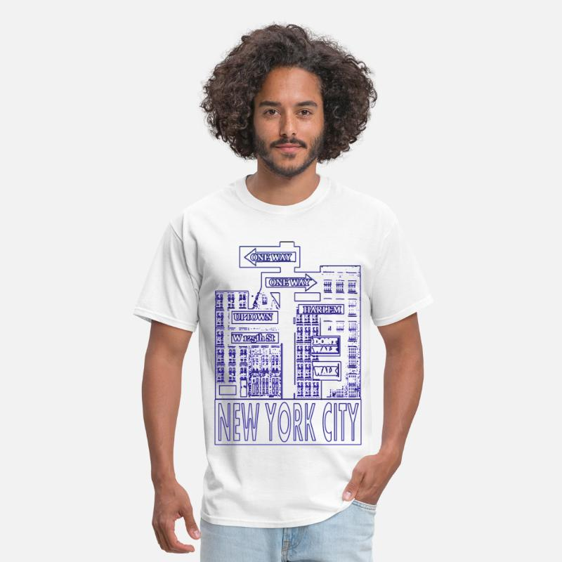 Humor T-Shirts - NYC Outline - Men's T-Shirt white