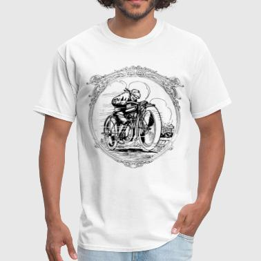 Old School Motorcycle Designs Retro vintage motorcycle race - Men's T-Shirt