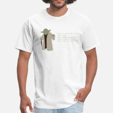 Cool Star Wars Yoda quote - Men's T-Shirt