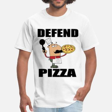 Pizza Man Defend Pizza T-Shirt - Men's T-Shirt