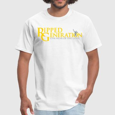 Ripped Generation Logo Gold - Men's T-Shirt