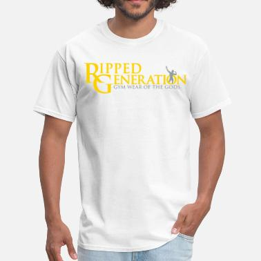 Zyzz Generation Ripped Generation Logo Gold - Men's T-Shirt