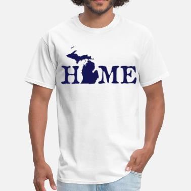 The Great Lakes HOME - Michigan - Men's T-Shirt