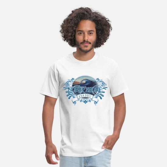 Hawaiian T-Shirts - North Shore Oahu - Men's T-Shirt white