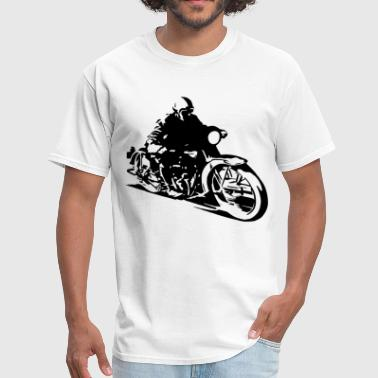 Old School Motorcycle Designs Vintage retro motorcycle - Men's T-Shirt