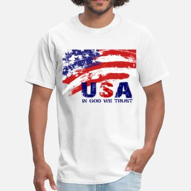 USA patriotic artwork for lighter apparel - Men's T-Shirt