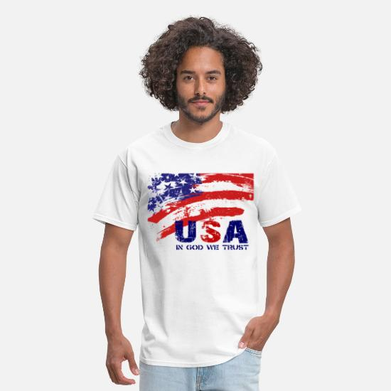 Patriot T-Shirts - USA patriotic artwork for lighter apparel - Men's T-Shirt white