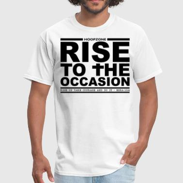 Basketball Hoops Sports Ball Hoopzone Basketball Motivational Inspirational Rise4lite.png - Men's T-Shirt