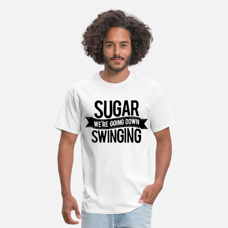 Emo T-Shirts - Sugar We're Going Down Swinging - Men's T-Shirt white