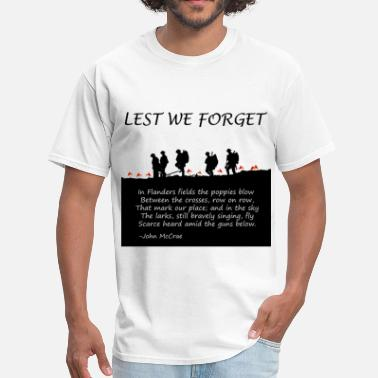 Armistice Day Remembering World War I - Men's T-Shirt
