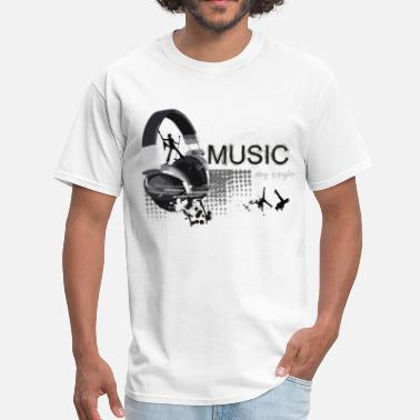 Style Of Music Music Is My Style - Men's T-Shirt