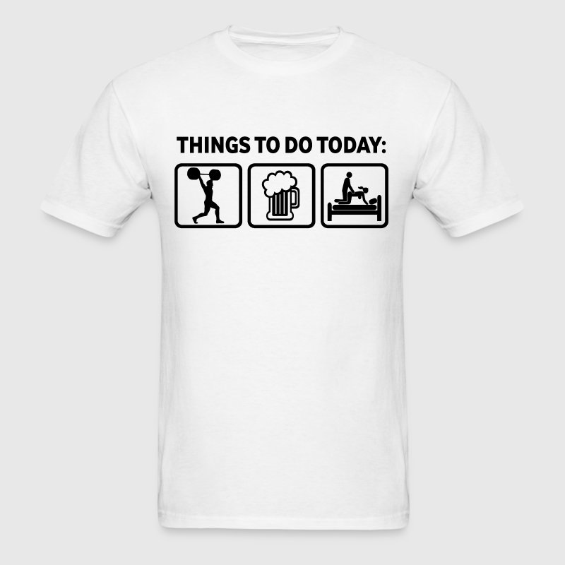 Weightlifting Plan For Today - Men's T-Shirt