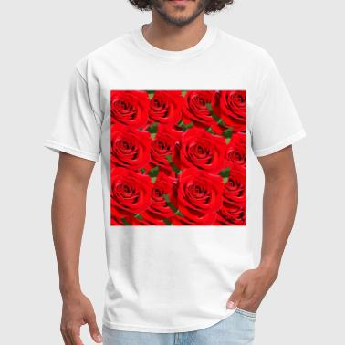 Red Roses PETALS - Men's T-Shirt