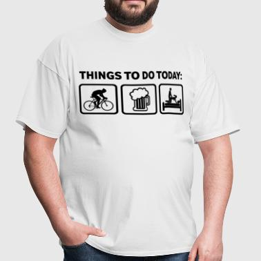 Rude Cycling Joke Shirt  - Men's T-Shirt