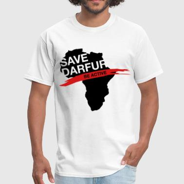 Sudanese Save Darfur. Be active! - Men's T-Shirt