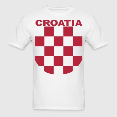 Croatia Šahovnica grb white shirt red - Men's T-Shirt
