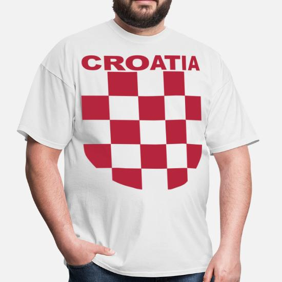 ba9d693f77b5 Croatia Šahovnica grb white shirt red - Men's T-Shirt. Front. Front