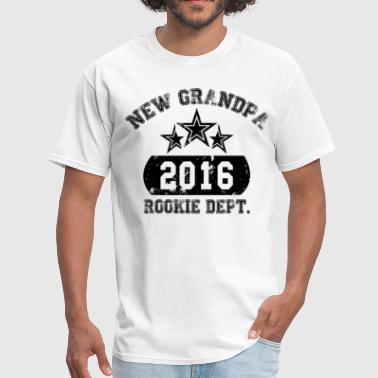 Rookie new grandpa 2016 rookie dept - Men's T-Shirt