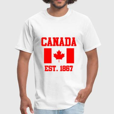 CANADA Maple Leaf Flag Canadian Winter Sports - Men's T-Shirt