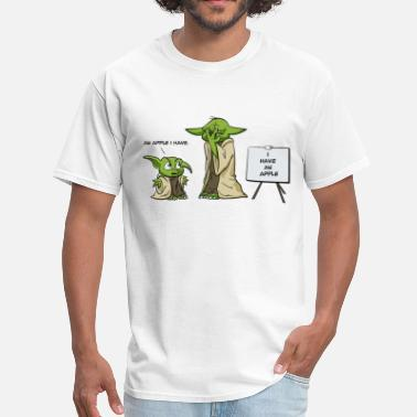 Nazi Nerd Yoda is a grammar nazi - Men's T-Shirt