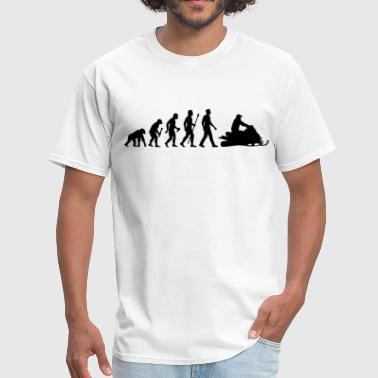Evolution Snowmobile - Men's T-Shirt