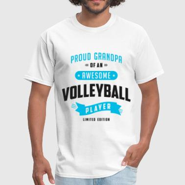 Grandpa Awesome Volleybal - Men's T-Shirt