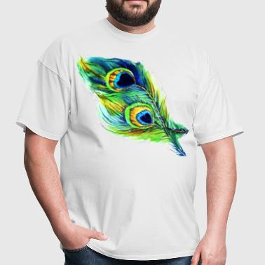 peacock feather - Men's T-Shirt
