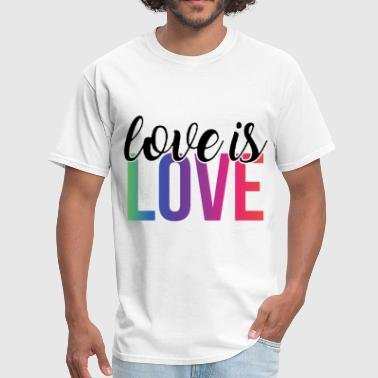 Gay Mickey Love is Love Gay Pride No Hate Bi LGBTQ Gay Rainbo - Men's T-Shirt