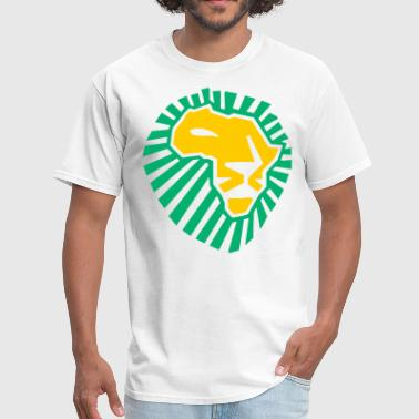 Lion Head Waka Waka This Time For Africa African Lion head yellow Green - Men's T-Shirt