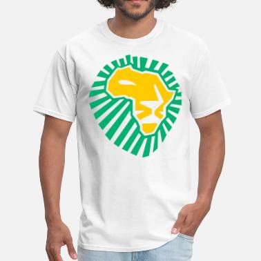 Waka Waka This Time For Africa African Lion head yellow Green - Men's T-Shirt