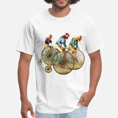 Illustration roosters - Men's T-Shirt