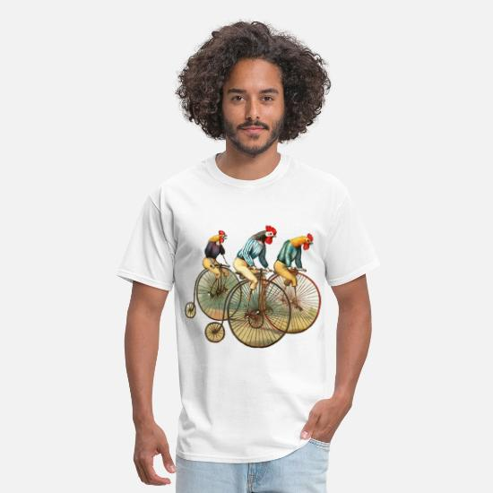 Hipster T-Shirts - roosters - Men's T-Shirt white