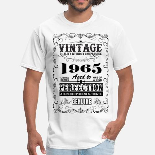 a4a76583 Premium Vintage 1965 Aged To Perfection Men's T-Shirt   Spreadshirt