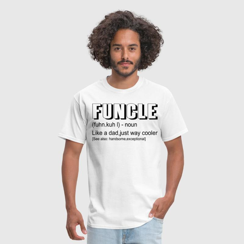 Funny Gift For Uncle- Funcle Definition - Men's T-Shirt