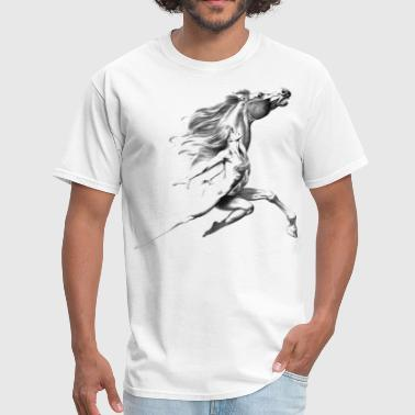 horse and woman - Men's T-Shirt